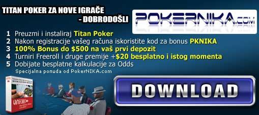 Titan Poker nudi  FREE za prvi depozit! 101