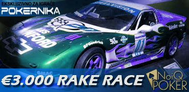 Update 27.11 - GoToCashier ponovo lider na RakeRace PokerNika@NoIQ 101