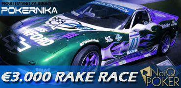 Lider PokerNika Rake Race @NoIQ Poker povećao prednost u trci 101