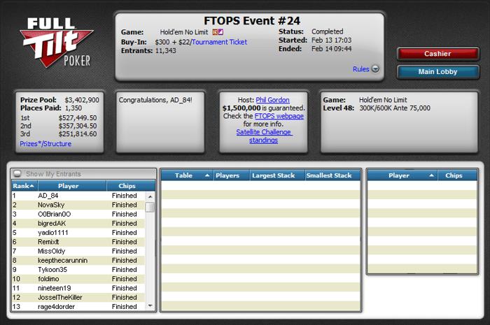 Oboreni rekordi na Full Tilt Online Poker Series XIX 102