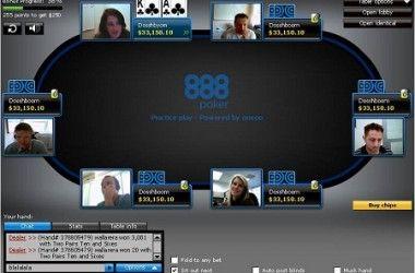 "888 Poker ""PokerCam"" stalai"