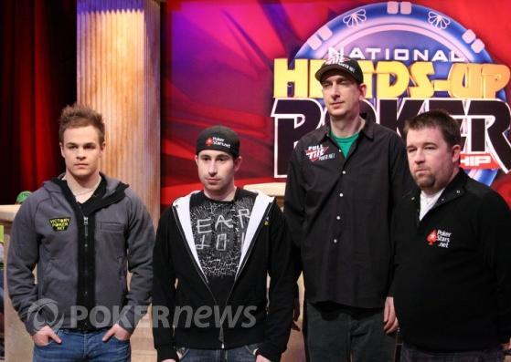 Poslední čtveřice (zleva) - Andrew Robl, Jonathan Duhamel, Erik Seidel a Chris Moneymaker