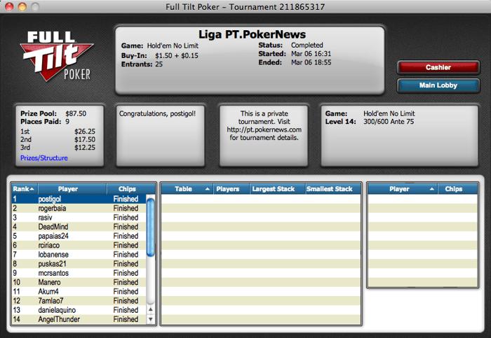 Postigol Vence na Liga PT.PokerNews 101