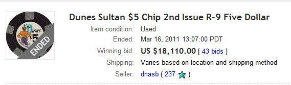 Čip od  prodat za .110 na eBay-u 101