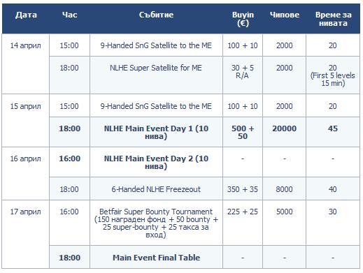 Класирайте се за Betfair Poker LIVE! в Талин 101