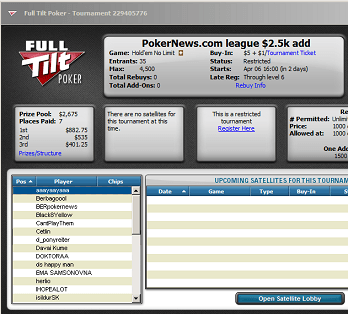 Full Tilt Skills Challenge: .5k Added Rebuy Coming Up 102