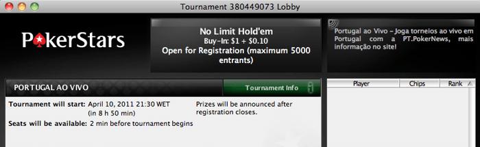 Hoje à Noite Portugal ao Vivo na PokerStars (21:30) 102