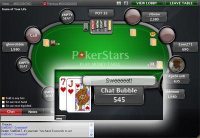 PokerStars с обновления в софтуера си 102
