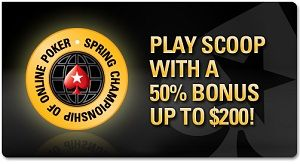 PokerStars SCOOP freerolls og re-load bonus opp til 0 102