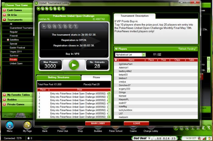 Класирайте се за следващия PokerNews Unibet Open €1,000... 101