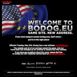 Bodogil on uus domeen, netipokker näitab langustrendi 101