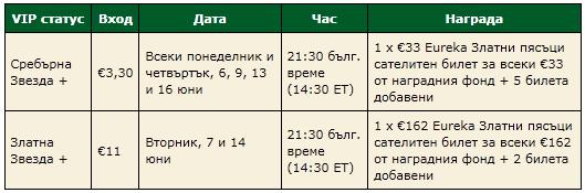 Онлайн сателити за покер турнири на живо в... 102