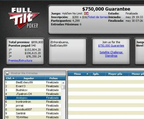 Dos españoles consiguen premios en PokerStars y Full Tilt Poker 102