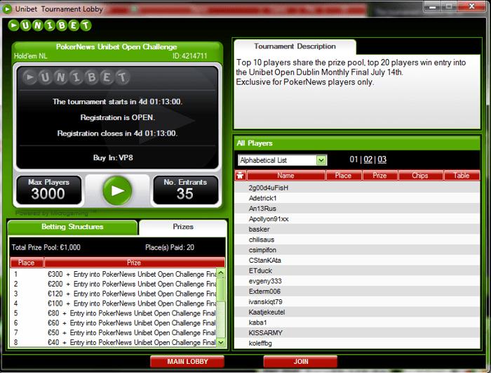 Gibraltar Poker Masters & WSOP-E сателити в  Unibet Poker 101