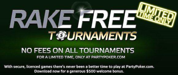Hrajte turnaje na PartyPokeru bez jediného poplatku herně! 101