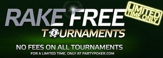 PartyPoker Weekly: All Tournaments are Rake Free! 101