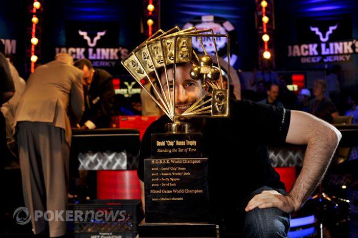 Brian Rast s Chip Reese trofejí