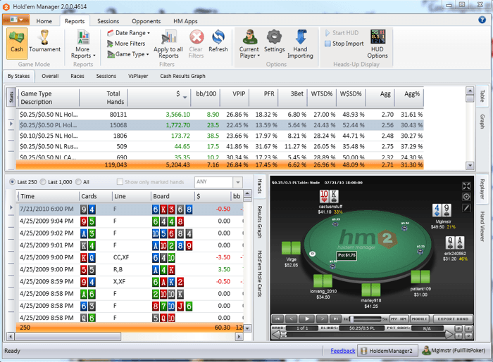 Holdem Manager 2 на хоризонта 105
