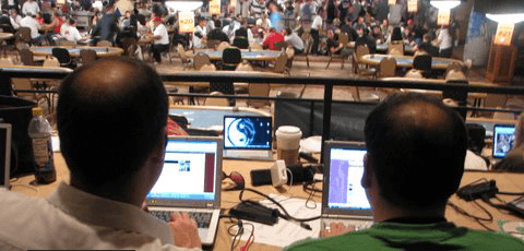 WSOP veiksmas žurnalistų akimis
