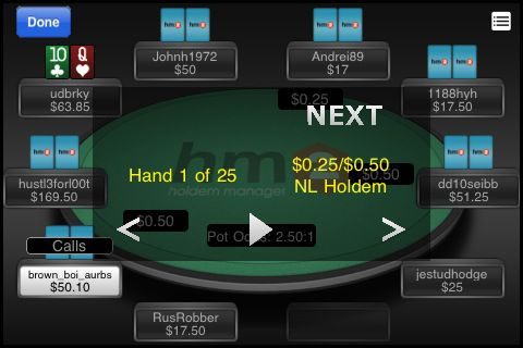 Holdem Manager 2 pro iPhone 101