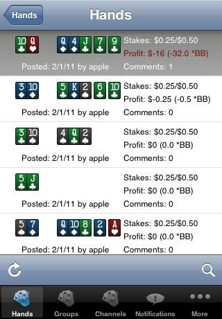 Holdem Manager 2 pro iPhone 103