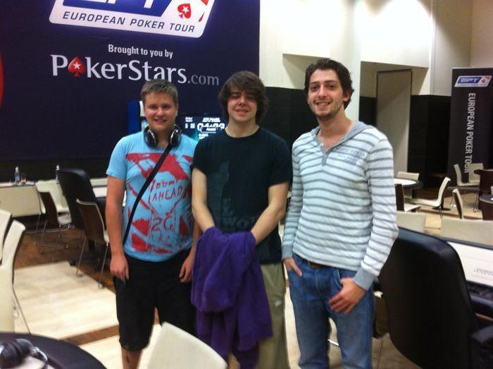 Dominykas kairėje, Benny Spindleris viduryje, Igoris Kurganovas dešinėje