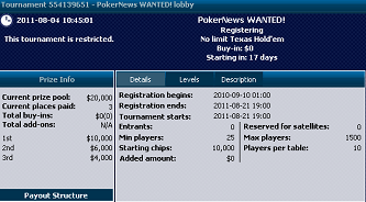 Tiden börjar rinna ut, kvala in till William Hill k freeroll 101