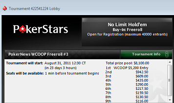 Less Than A Week to Qualify For ,500 in WCOOP Freerolls 101