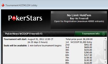 Ostatni tydzień kwalifikacji do freerolli PokerNews WCOOP z pulą ,500 101