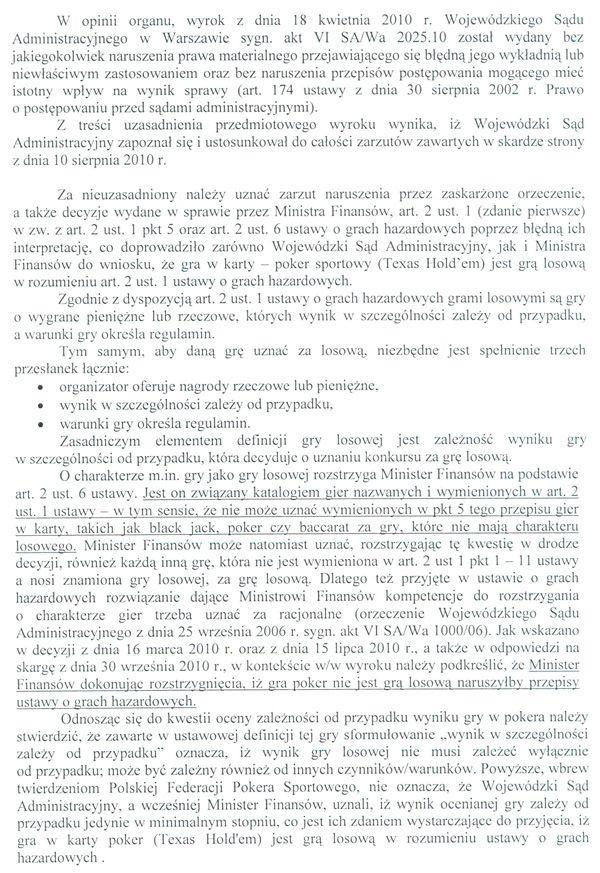 Jest odpowiedz Ministerstwa Finansów na skargę kasacyjną 103