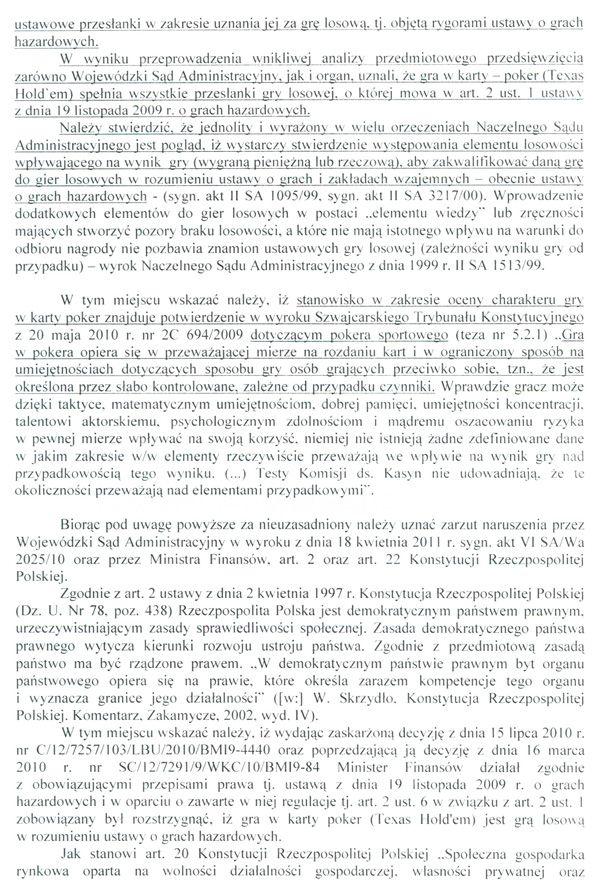 Jest odpowiedz Ministerstwa Finansów na skargę kasacyjną 106