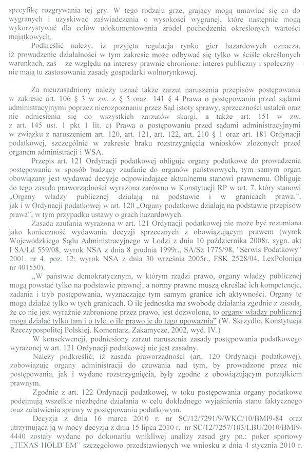 Jest odpowiedz Ministerstwa Finansów na skargę kasacyjną 108