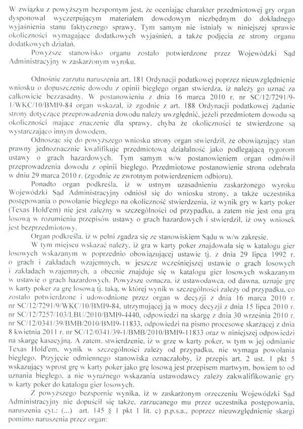 Jest odpowiedz Ministerstwa Finansów na skargę kasacyjną 109