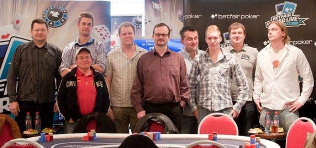 Betfair Poker Live! Tallinna osavõistluse finaallaud