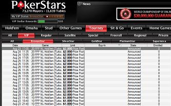 .000 i premiepotten ved VIP freeroll turneringene hos PokerStars 101