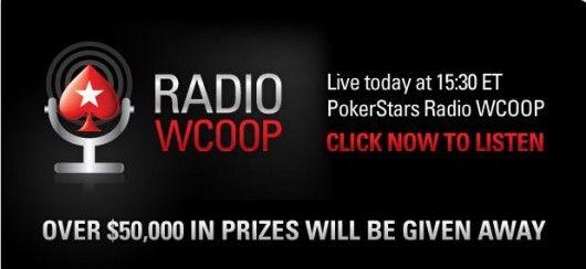 Få med deg PokerStars sine WCOOP Radio sendinger og Inside WCOOP TV