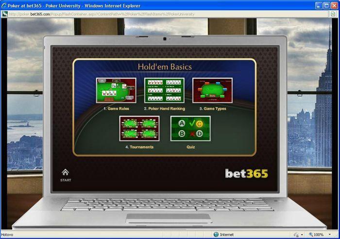 Pokerová univerzita herny bet365 101