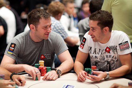 Участники Team PokerStars pro Евгений Качалов и Джонатан Дюхамель на EPT Барселона