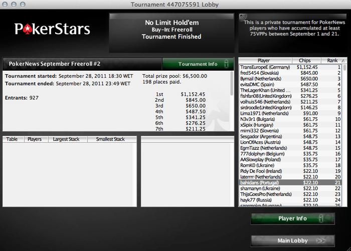 .000 em freerolls na PokerStars - última oportunidade 101
