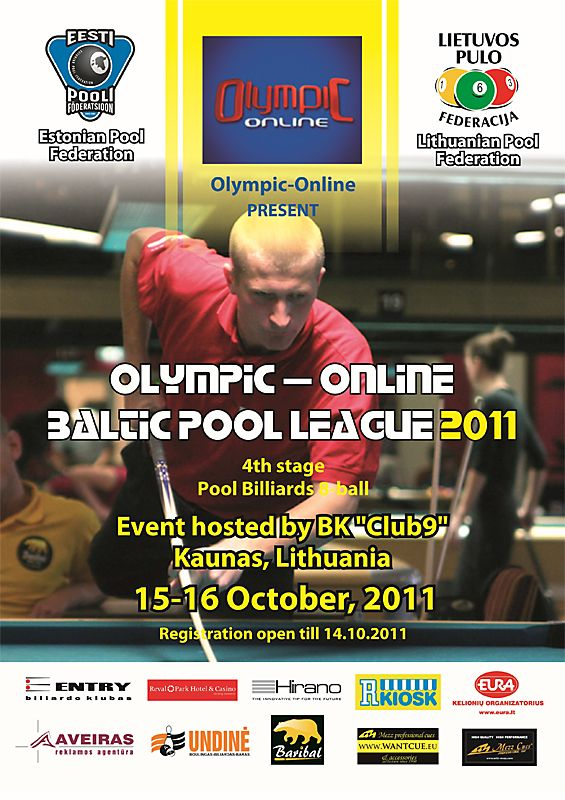 Olympic-Online Baltic Pool League 2011 Kaunases 101