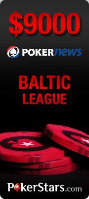 PokerNews kviečia dalyvauti ,000 Baltijos lygoje PokerStars kambaryje 101