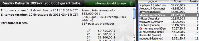 Pinchazos de los jugadores españoles en PokerStars 102