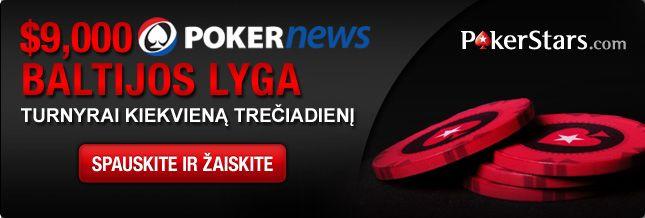 Jau šįvakar pirmasis PokerStars ,000 Baltijos lygos turnyras 101