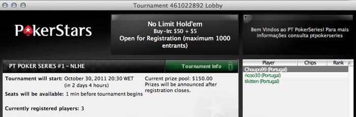 PT Poker Series 2011 começa hoje na PokerStars 101