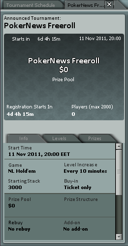 Smart Live Poker Freeroll