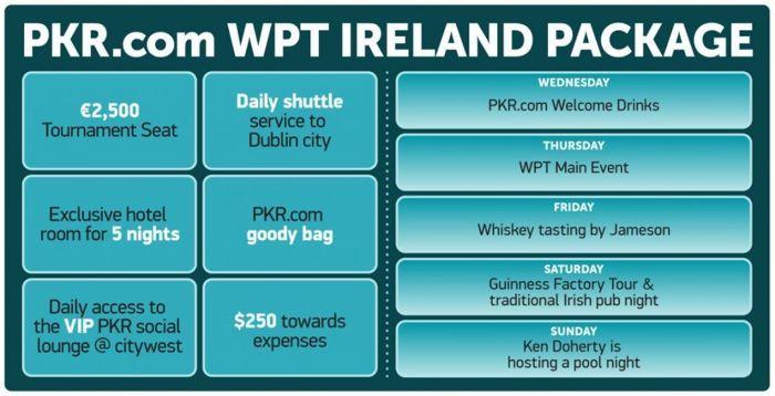 Спец пакети за WPT Ireland от PKR с Jameson и Guinness партита 101