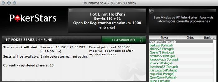 PT Poker Series 2011: Evento #4 PLO é hoje 101