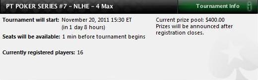 PT Poker Series 2011 - Evento #7 hoje Às 20:30 na PokerStars 102