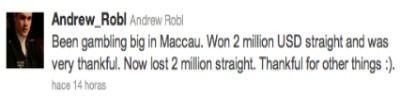 """Andrew Robl: """"Gané M y enseguida los perdí"""" 101"""