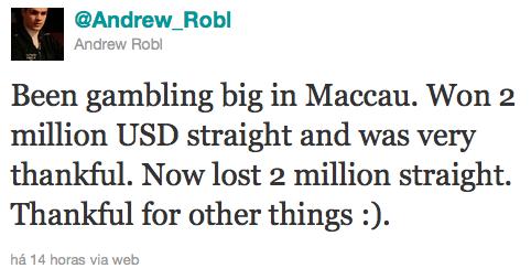 Andrew Robl izgubio .000.000 u Makau 101